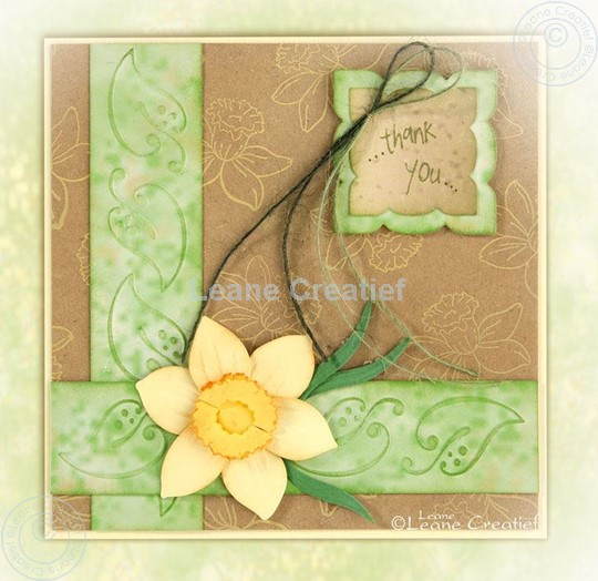 Image sur Embossing folder border leaves