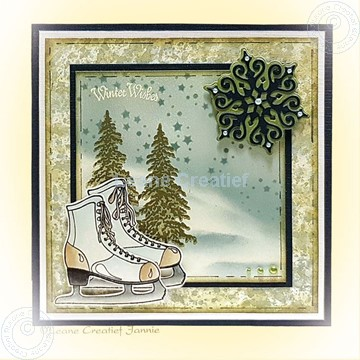 Picture of Figure skate & Crystals & Trees