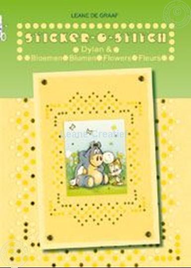 Image sur Sticker-O-Stich® avec Dylan® & fleurs
