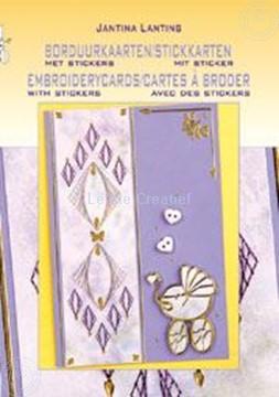 Afbeeldingen van Borduurkaarten met stickers