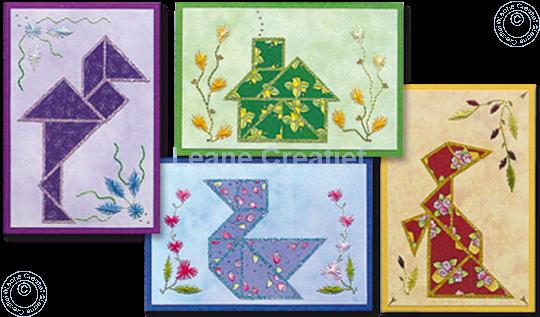 Image sur Mosaïque en papier avec cartes à broder