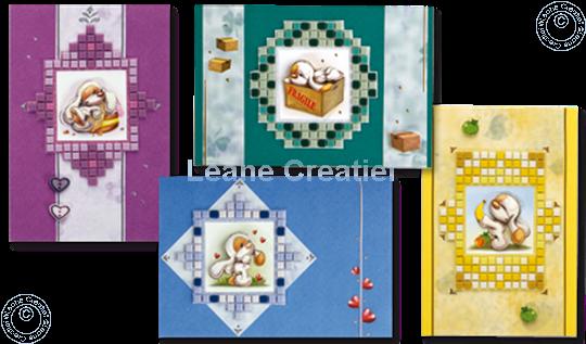 Image sur Mylo & Friends® Cadres de mosaïque sur des cartes