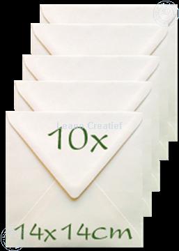 Afbeeldingen van Enveloppen 14x14cm cream
