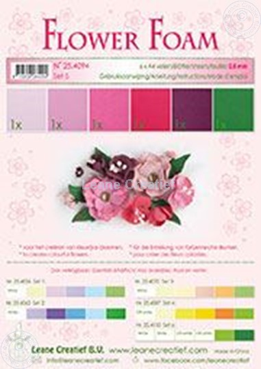 Image sur Flower foam set 5 rouge
