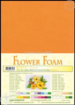 Afbeeldingen van Flower foam A4 sheet orange