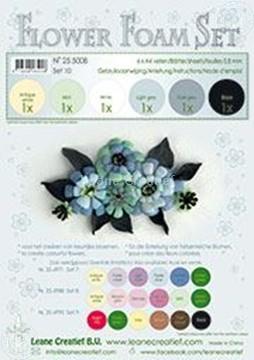 Afbeeldingen van Flower foam set 10 zwart/grijs