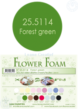 Bild von Flower foam A4 sheet forest green