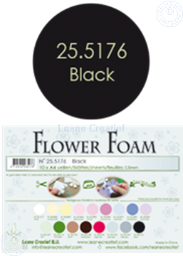 Bild von Flower foam A4 sheet black