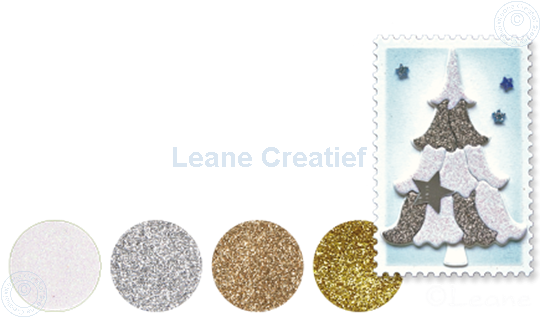 Picture of Glitter Foam set 1 silver/white/gold