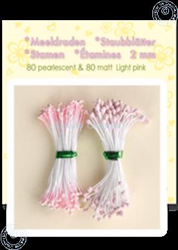 Afbeeldingen van Meeldraden ± 80 matt & 80 pearl light pink
