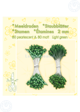Afbeeldingen van Meeldraden ± 80 matt & 80 light green
