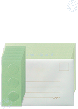 Picture of Card set Tri-O cards green/dark green