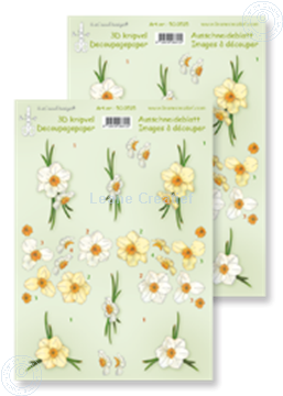 Picture of LeCreaDesign® decoupage papers Daffodils