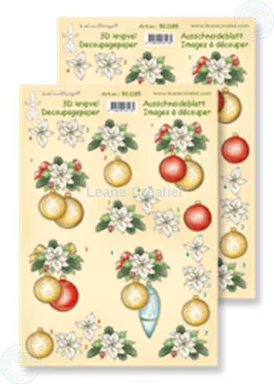 Picture of Decoupagepaper Christmas balls