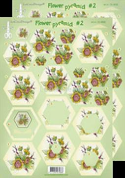 Afbeeldingen van Piramide bloemen knipvellen #P2