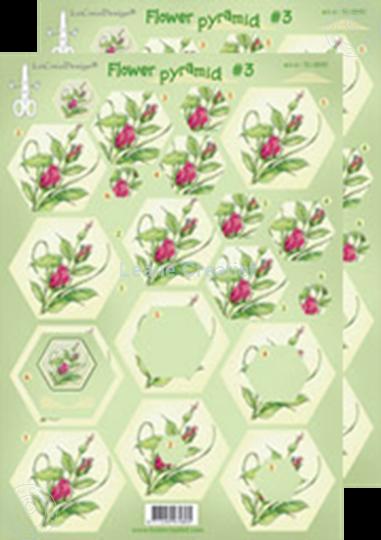 Afbeelding van Piramide bloemen knipvellen #P3