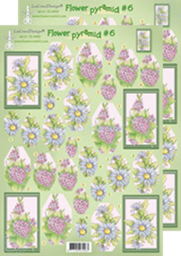 Afbeeldingen van Piramide bloemen knipvellen 50.4963