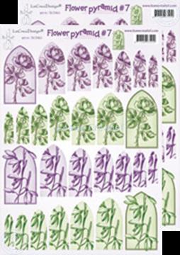 Afbeeldingen van Piramide bloemen knipvellen 50.5410