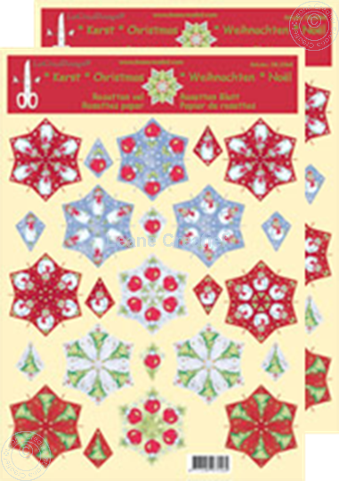 Picture of Christmas rosettes & decoupage sheets mix