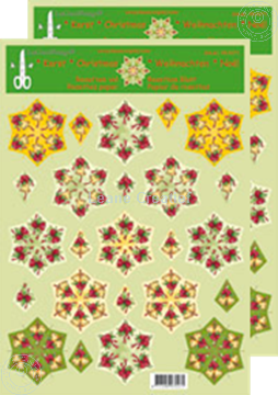 Picture of Christmas rosettes & decoupage sheets christmas bells