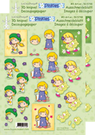 Picture of Decoupagepaper Pinkies #3