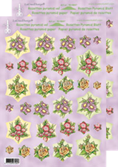 Picture of Rosettes Pyrmamid sheets Flowers red/yellow