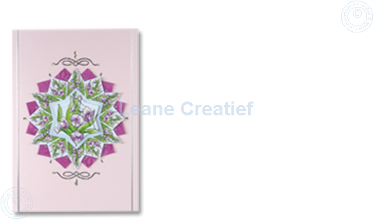 Picture of Rosettes Pyrmamid sheets Flowers pink/blue