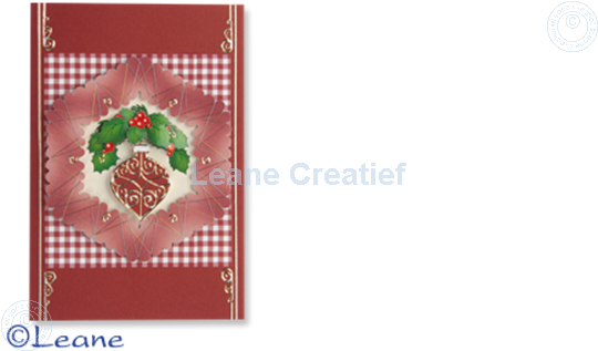 Picture of Christmas decoupagepaper hexagon