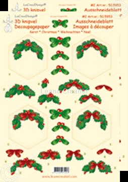 Afbeeldingen van Kerst knipvel zeshoek