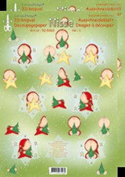 Afbeeldingen van Kerstster 3D Nisse #1