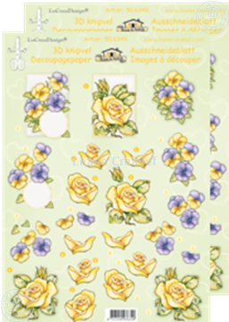 Picture of LeCreaDesign® decoupage papers violets/roses
