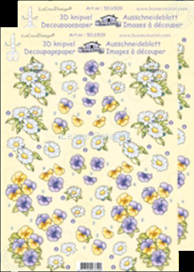 Afbeelding van LeCreaDesign® Bloemen klein knipvellen