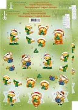 Afbeeldingen van Kerstbeer 3D klein