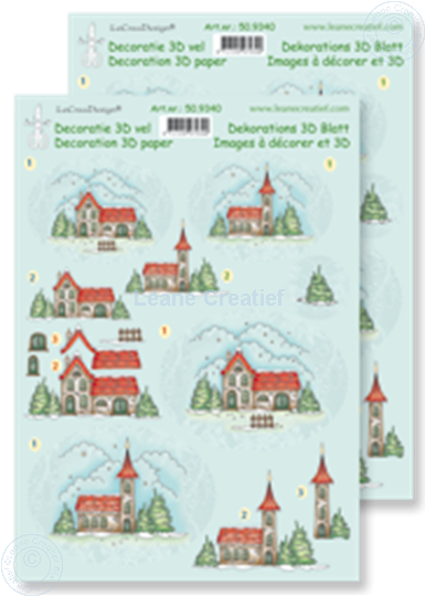 Picture of Decoupagepaper Winter scenes