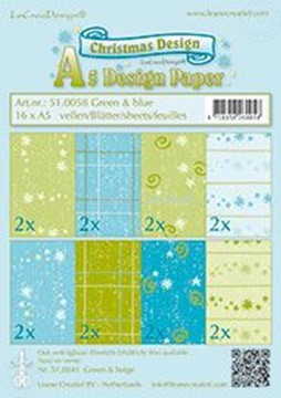 Picture of Design sheets Christmas Blue & Green A5