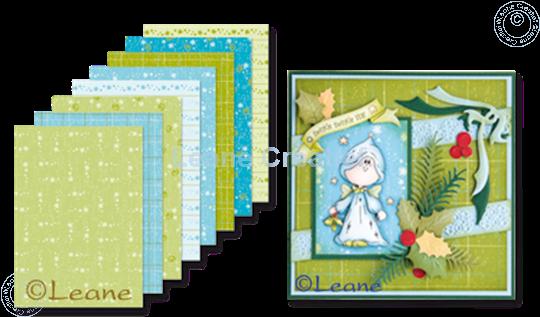 Image sur Feuilles décorées Noël Blue & Green A5
