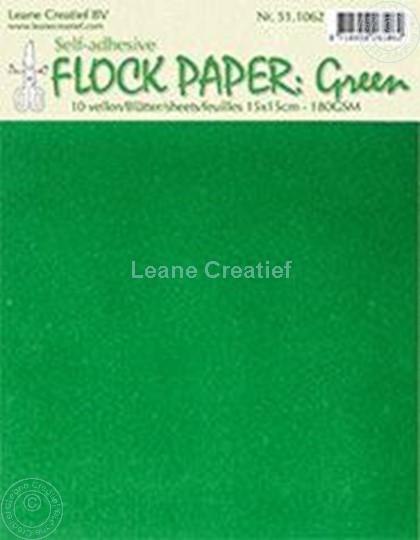 Image sur Flock paper green 15x15cm