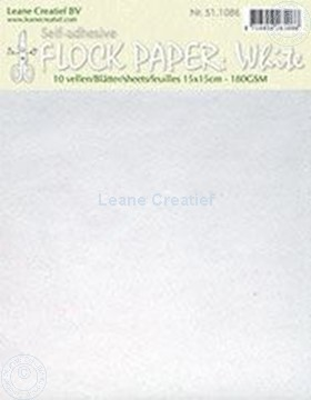 Picture of Flock paper white 15x15cm