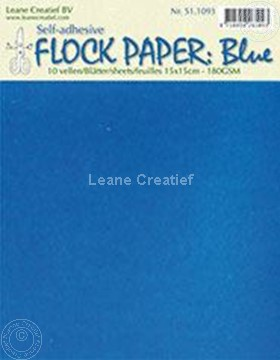 Picture of Flock paper blue 15x15cm