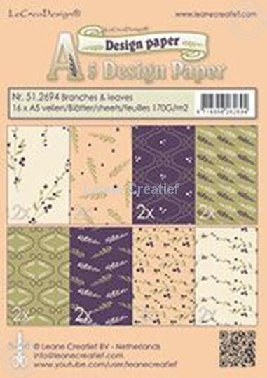 Image sur Design paper branches & leaves
