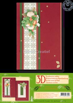 Afbeeldingen van Kerst kaarten pakket 3D rood