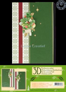 Afbeeldingen van Kerst kaarten pakket 3D groen
