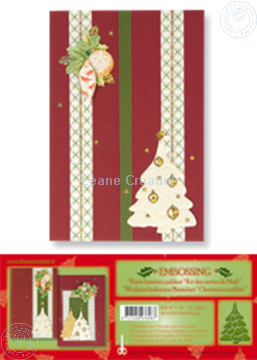 Picture of Christmas card kit embossing red