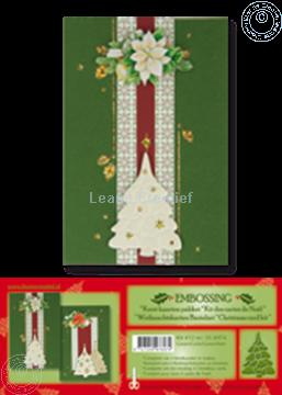 Afbeeldingen van Kerst kaarten pakket embossing groen