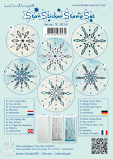 Image sur Star sticker stamp set