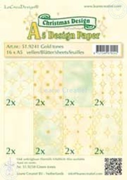 Picture of Design sheets gold tones A5