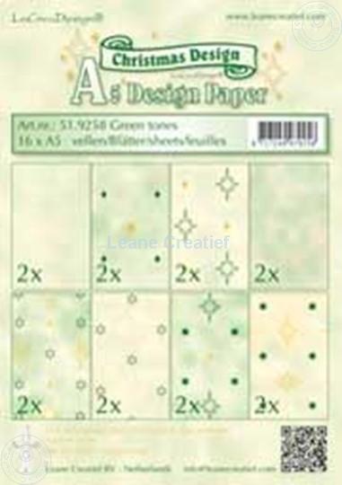 Image sur Feuilles décorées green tones A5