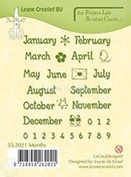 Image de Months English text