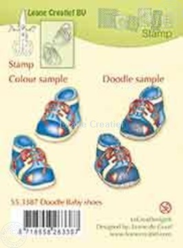 Afbeeldingen van Doodle stamp Baby shoes