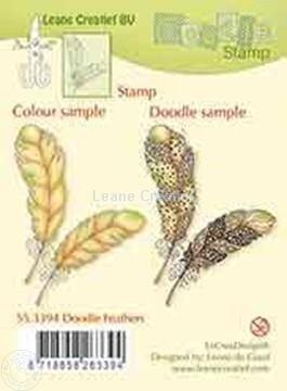 Bild von Doodle stamp Feathers